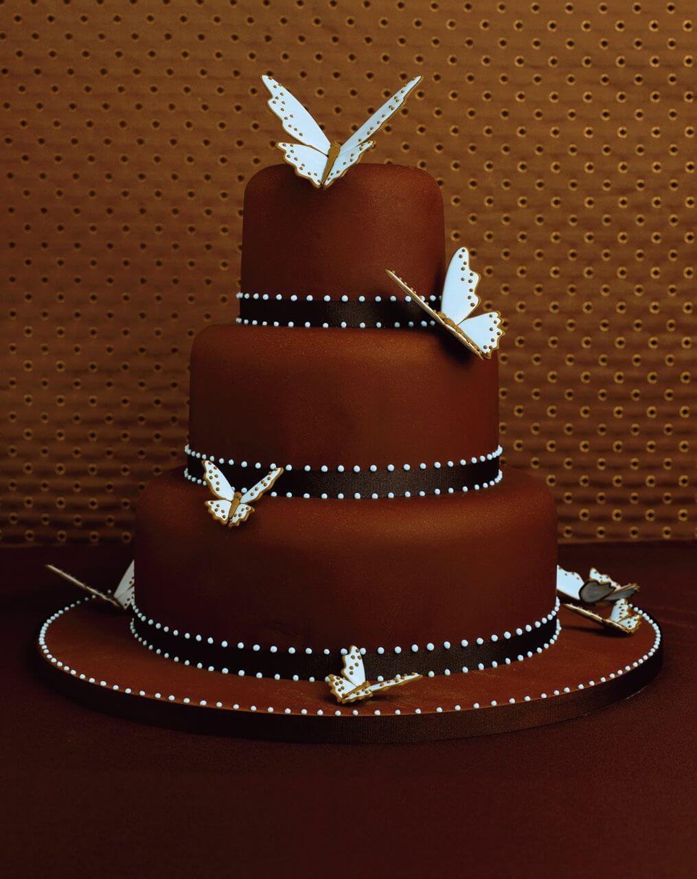 Как сделать шоколадный бант на торт