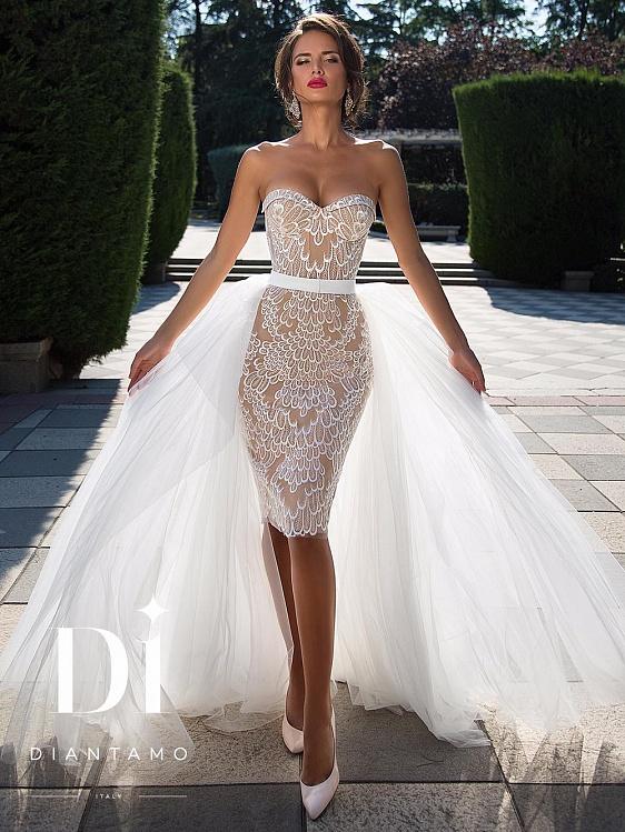 054bccbaa2e Купить короткое свадебное платье в СПб - каталог коротких свадебных ...