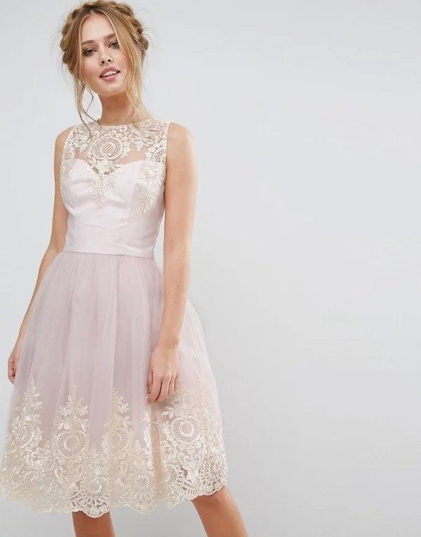 Платье на выпускной с ажуром